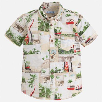 Рубашка Mayoral для мальчика - серый