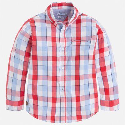 Рубашка Mayoral для мальчика - бордовый