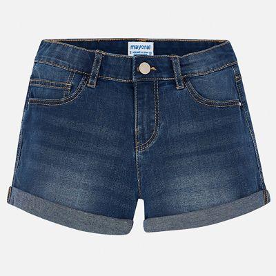 Шорты джинсовые Mayoral для девочки - белый