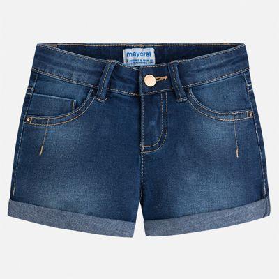 Шорты джинсовые Mayoral для девочки - синий