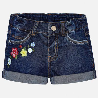 Шорты джинсовые Mayoral для девочки - голубой