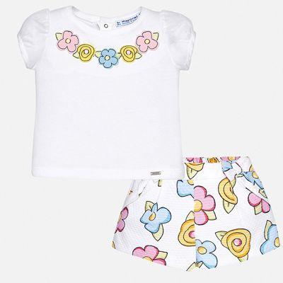 Комплект: шорты Mayoral для девочки - желтый