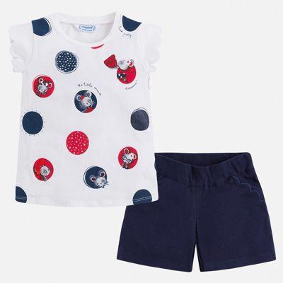 Комплект:шорты,футболка Mayoral для девочки - синий