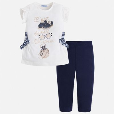 Комплект:бриджи,футболка Mayoral для девочки - синий