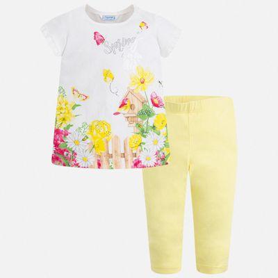 Комплект:леггинсы,блузка Mayoral для девочки - желтый