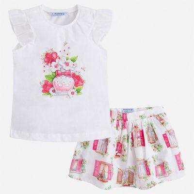 Комплект: юбка Mayoral для девочки - розовый