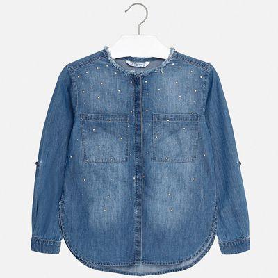 Рубашка Mayoral для девочки - синий