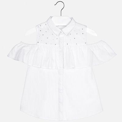 Блуза Mayoral для девочки - белый
