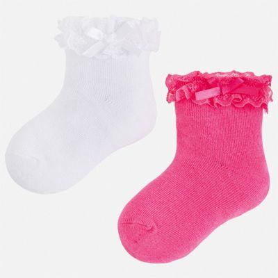 Комплект:2 пары носок Mayoral для девочки - розовый