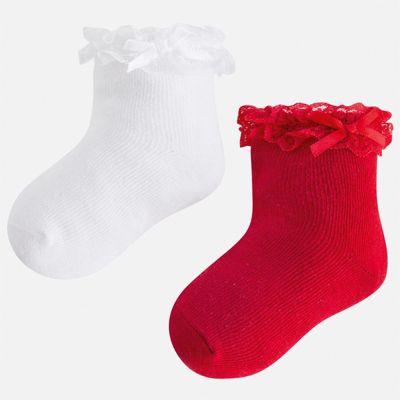 Комплект:2 пары носок Mayoral для девочки - красный