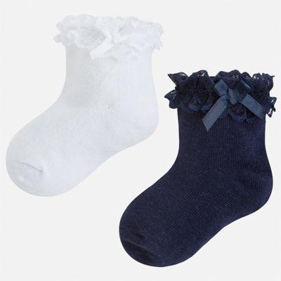 Комплект:2 пары носок Mayoral для девочки - синий