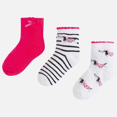 Комплект:3 пары носок Mayoral для девочки - розовый