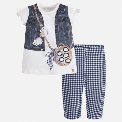 Комплект:брюки,пуловер Mayoral для девочки - синий