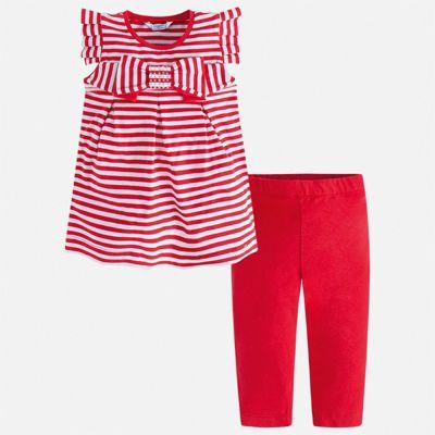 Комплект:леггинсы,футболка Mayoral для девочки - красный