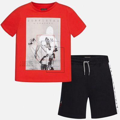 Комплект:Футболка,шорты Mayoral для мальчика - красный