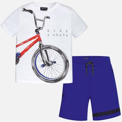 Комплект:Футболка,шорты Mayoral для мальчика - синий