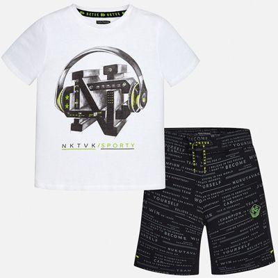 Комплект:Футболка,шорты Mayoral для мальчика - черный