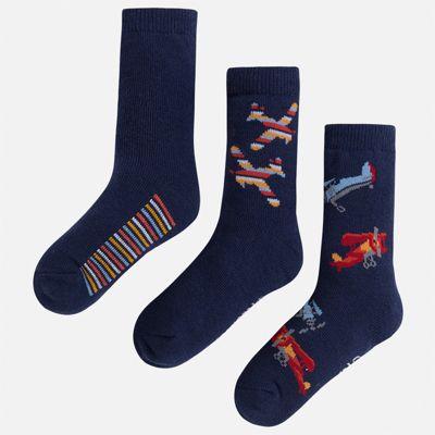 Комплект:3 пары носок Mayoral для мальчика - синий