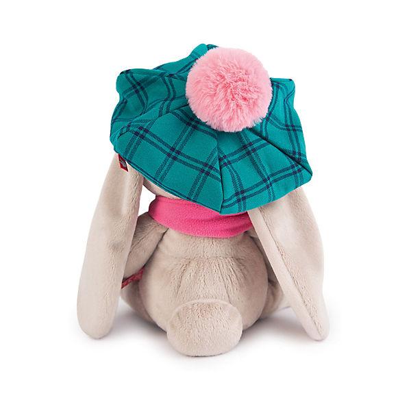 Мягкая игрушка Budi Basa Зайка Ми в зеленой кепке и розовом шарфе, 18 см