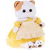Мягкая игрушка Budi Basa Кошка Ли-Ли в желтом платье с передником, 24 см