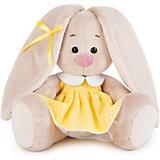 Мягкая игрушка Budi Basa Зайка Ми в желтом платье в горошек, 15 см