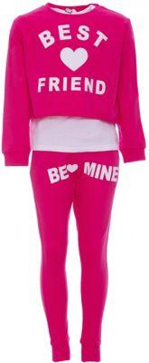 Комплект: футболка с длинным рукавом, леггинсы iDO для девочки - розовый