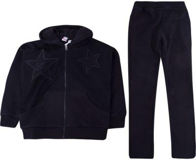 Спортивный костюм iDO для девочки - черный