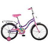 """Велосипед Novatrack 14"""",TETRIS, фиолетовый"""