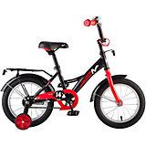 """Велосипед Novatrack 14"""", STRIKE, чёрный-красный"""