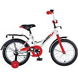 """Велосипед Novatrack 14"""", STRIKE, белый-красный"""