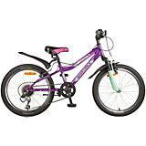 """Велосипед Novatrack 20"""" FLYER, фиолетовый"""