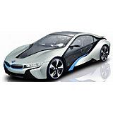 """Радиоуправляемая машинка Rastar """"BMW i8"""", 1:14, серебряная"""