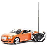 """Радиоуправляемая машинка Rastar """"Bentley Continetal GT """", 1:12, оранжевая"""