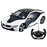 """Радиоуправляемая машинка Rastar """"BMW i8"""", 1:14, белая"""