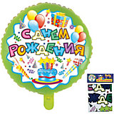 """Фольгированный шар ACTION! """"С Днем Рождения!"""", 53х47см"""