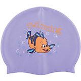 Силиконовая шапочка для плавания Dobest, с рисунком, фиолетовая