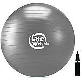 Гимнастический Мяч Lite Weights, с насосом , 85см, серебряный