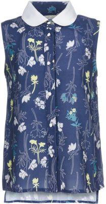 Блузка Button Blue для девочки - темно-синий