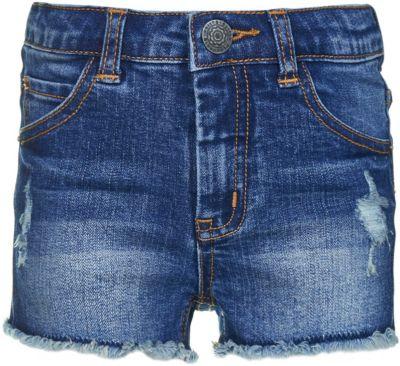 Шорты джинсовые Button Blue для девочки - темно-синий
