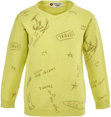Пуловер Button Blue для мальчика - зеленый