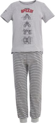 Пижама Button Blue для мальчика - серый