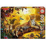 """Пазл Educa 500 деталей""""Леопард и его детеныши"""""""