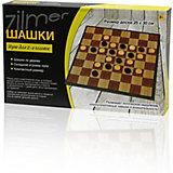 "Настольная игра Zilmer  ""Шашки"",25х15х3,5 см"
