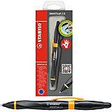Ручка-стилус Stabilo smartball 2.0 д/правшей синяя, корпус черный/св.зеленый