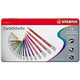 Набор цветных пастелей Stabilo Carbothello, 36 цв, металл