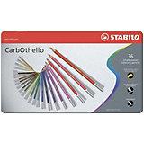 Набор акварельных карандашей Stabilo aquacolor 36цв, металл