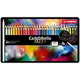 Набор цветных пастелей Stabilo Carbothello, 60 цв, металл