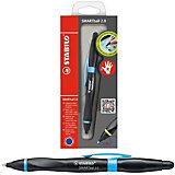 Ручка-стилус Stabilo smartball 2.0 д/правшей синяя, корпус черный/голубой