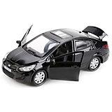 """Машина  """"Hyundai Solaris"""" 12см, металл. инерц.открыв. двери и багажник."""
