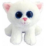 Мягкая игрушка Abtoys Котенок белый, 15 см
